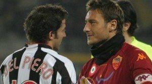 """Totti: """"Affrontare la Juve senza Del Piero non sarà più la stessa cosa"""""""