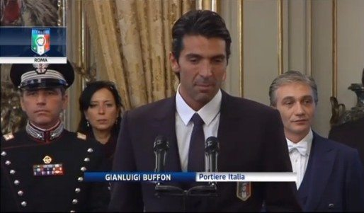 """Gli Azzurri al Quirinale, Buffon: """"serve una classe politica coesa, colta e responsabile"""""""