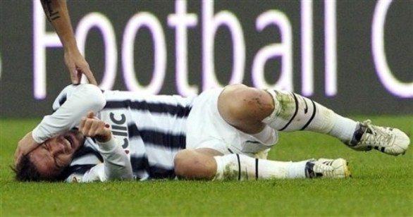 Del Piero, otto punti di sutura e notte in ospedale
