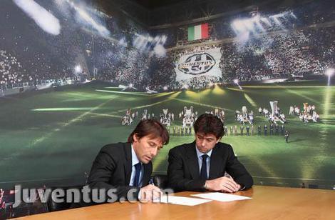Ufficiale Conte prolunga con la Juventus fino al 2015
