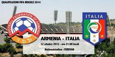 Brasile 2014 Armenia-Italia 1-3: tabellino, highlights e video gol