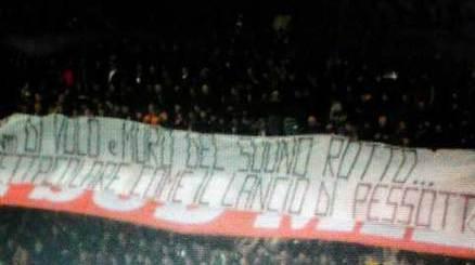 Vergogna a San Siro: ennesimo striscione contro Pessotto