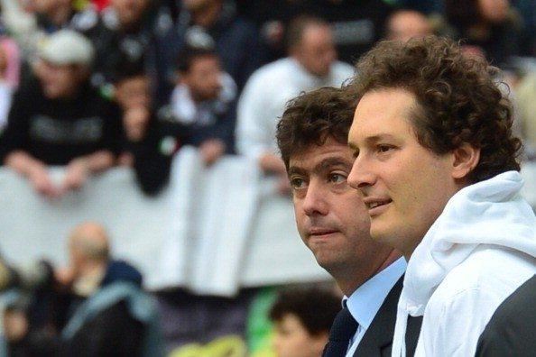 Juventus president Andrea Agnelli (L) an