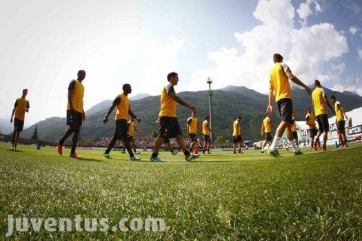 Ritiro estivo Juventus stagione 2013 / 2014 - Allenamento mattut