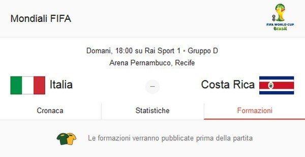 Diretta Italia-Costa Rica: TV, streaming live e formazioni ufficiali in campo alle 18.00