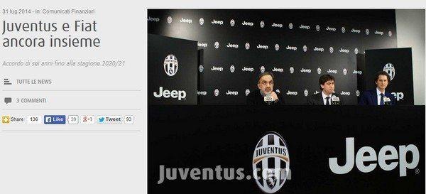 Sponsor Juve: Fiat fino al 2021, il doppio significato della conferma