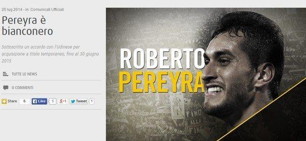 Pereyra alla Juve, ufficiale: i dettagli del contratto e presentazione [Video]