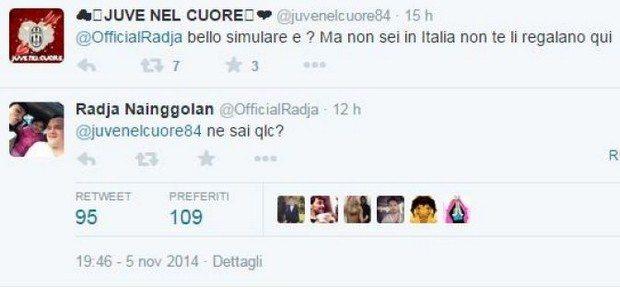 Nainggolan contro i tifosi della Juventus su Twitter