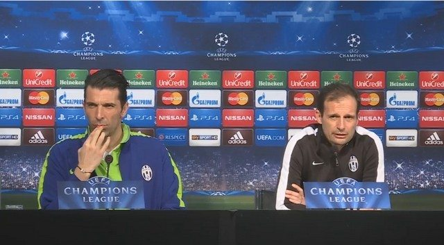 Buffon e Allegri in conferenza stampa