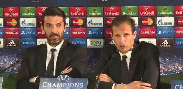 Allegri Buffon conferenza stampa Real-Juvetus