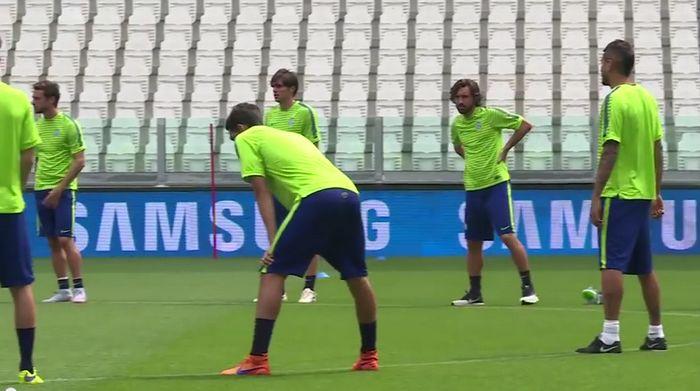 Juventus-Barcellona allenamento