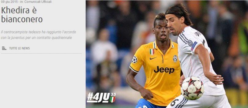 Khedira-Juventus ufficiale