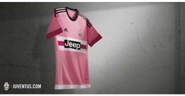 maglia away juventus rosa 2015-2016