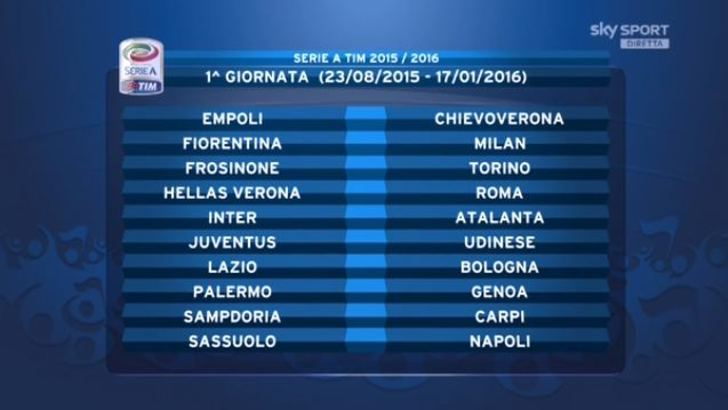 Juve Calendario Partite.Calendario Serie A 2015 2016 Tutte Le Partite Della Juventus