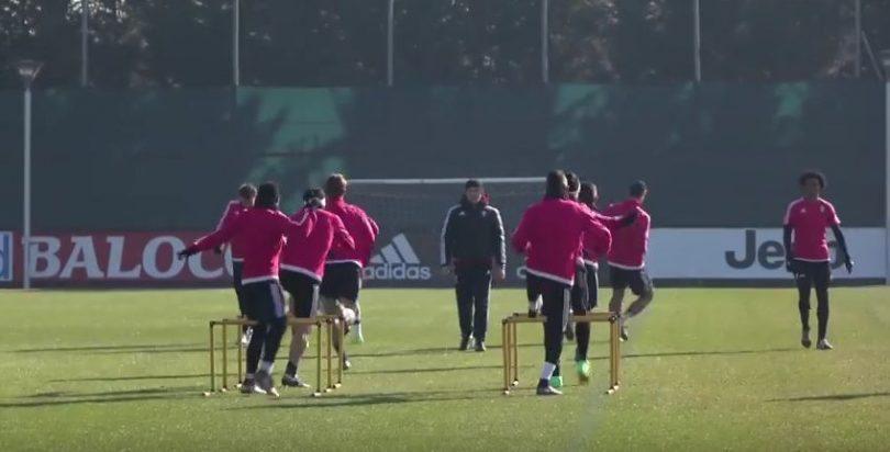 Juventus Roma allenamento