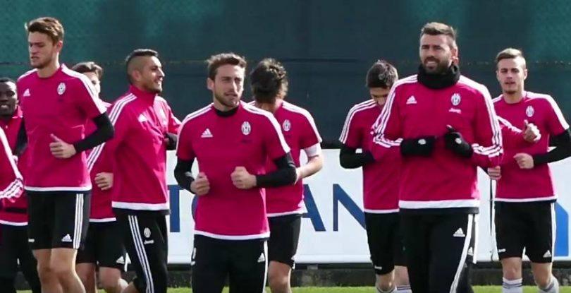 Atalanta Juventus, allenamento