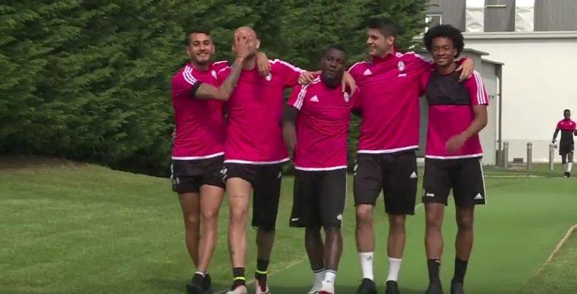 Fiorentina Juventus allenamento