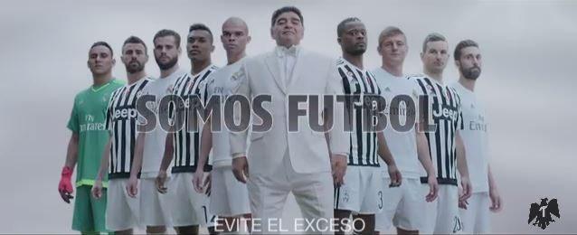 Maradona assieme ai giocatori della Juve: ecco perché (Video)