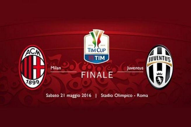 Juventus-Milan finale coppa Italia 2016