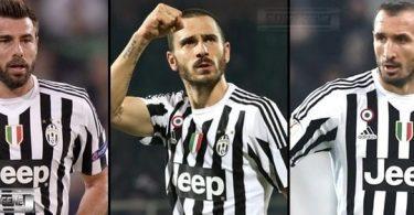 Barzagli - Bonucci - Chiellini - difesa Juventus