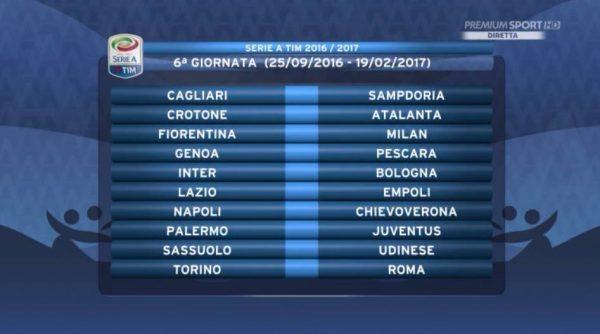 Serie A Calendario 6 Giornata.Calendario Serie A 2016 2017 Le 38 Giornate Della Juventus