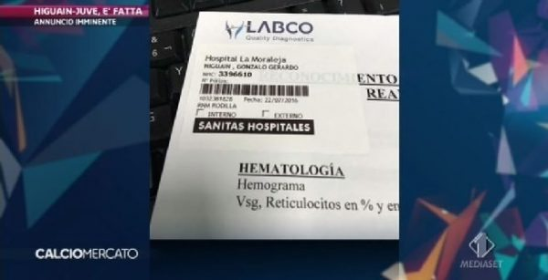 Higuain viste mediche