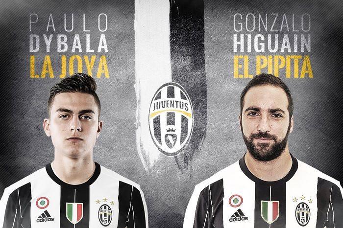 Dybala - Higuaina - Maglie Juventus 2016-2017