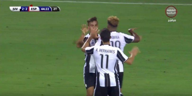 Juventus-Espanyol video 2-2