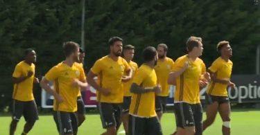 Juventus - Khedira - Bonucci allenamento