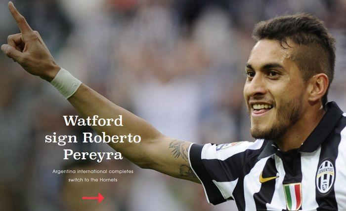 Pereyra - Watford ufficiale