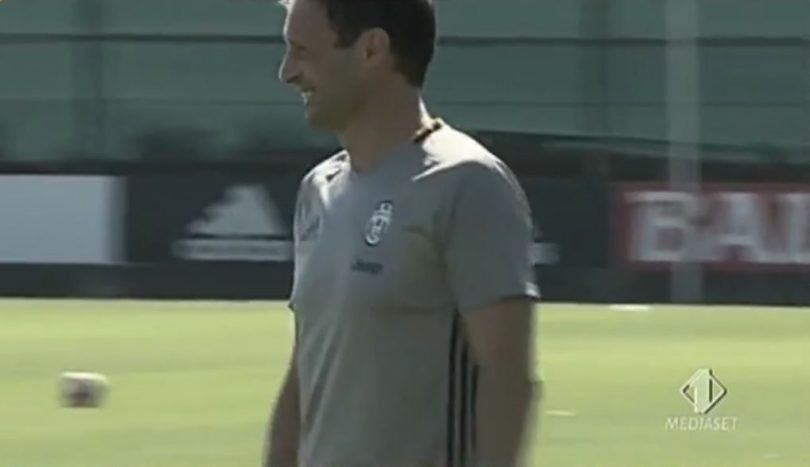 Juventus-Sassuolo allenamento allegri
