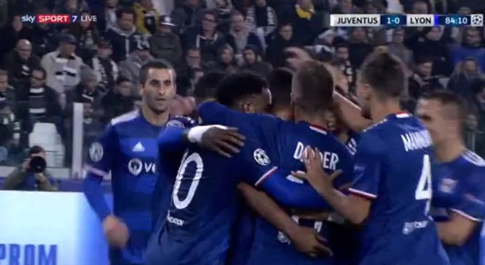 Juventus-lione 1-1 video gol