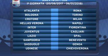 calendario Serie A 2017-2018 juventus