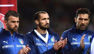Giorgio Chiellini Buffon Barzagli addio nazionale