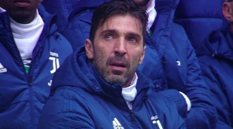 buffon piange astori