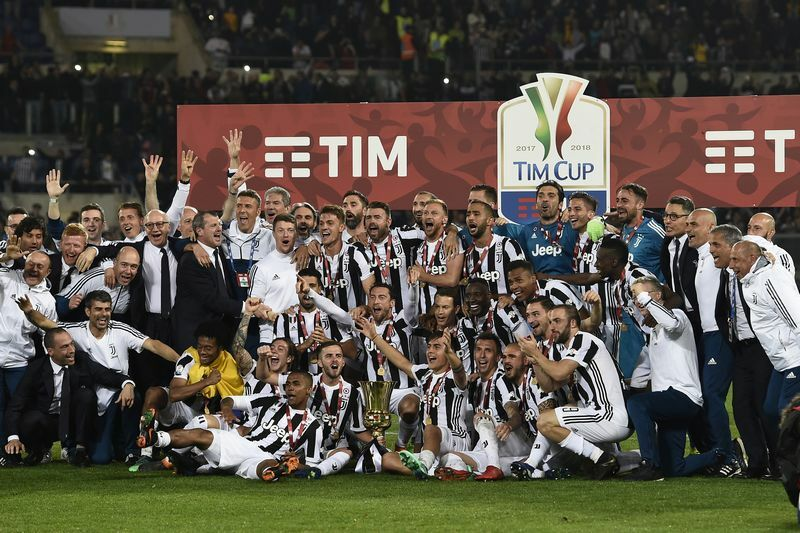 Juventus-Milan 4-0 Coppa Italia premiazione
