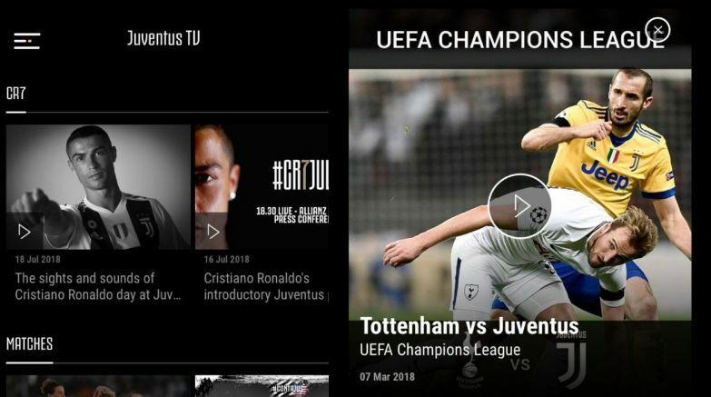 juventus tv web