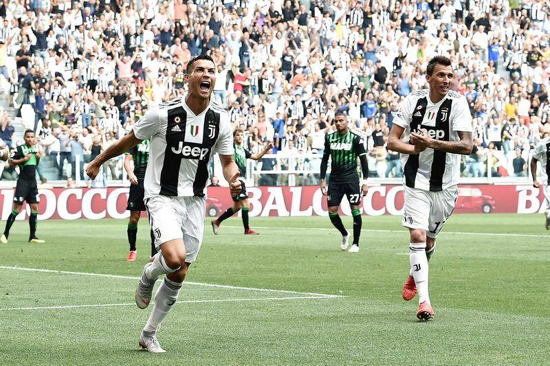 Juventus-Sassuolo 2-1 Ronaldo video