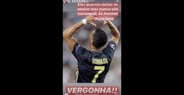 Ronaldo espulso Instagram Katia Aveiro 2
