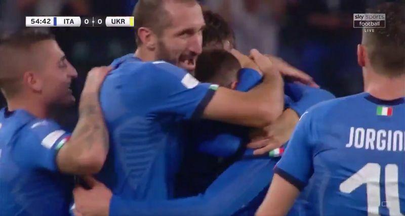 bernardeschi video gol italia-ucraina