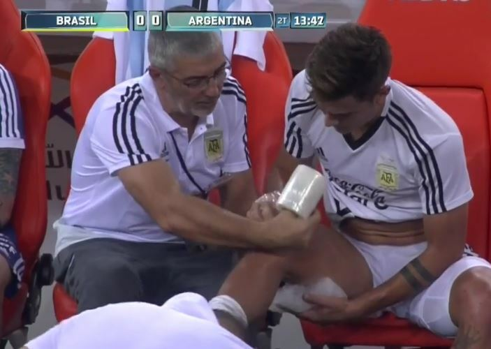 dybala argentina ginocchio