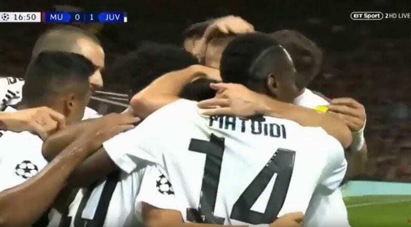 manchester united-juventus 0-1 video gol