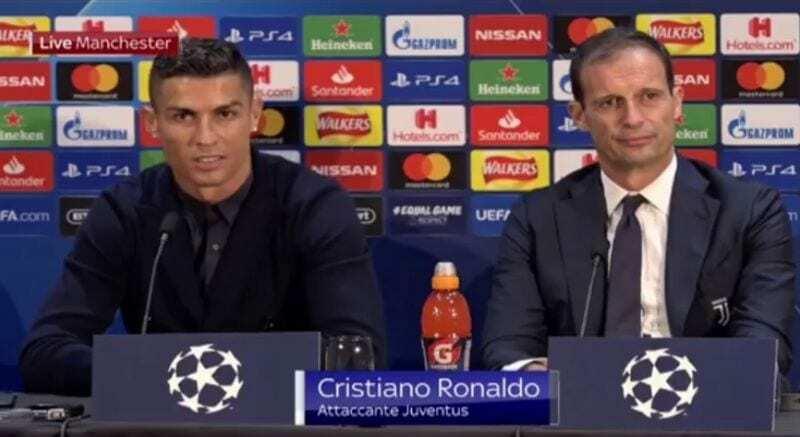 ronaldo manchester united juventus conferenza stampa