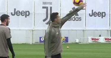 ronaldo show allenamento