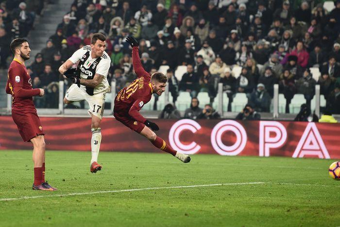 Juventus-Roma 1-0 gol Mandzukic