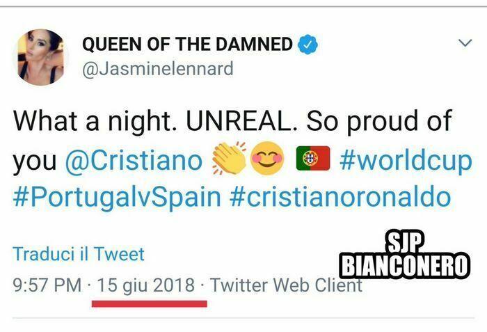 jasmine lennard ronaldo tweet