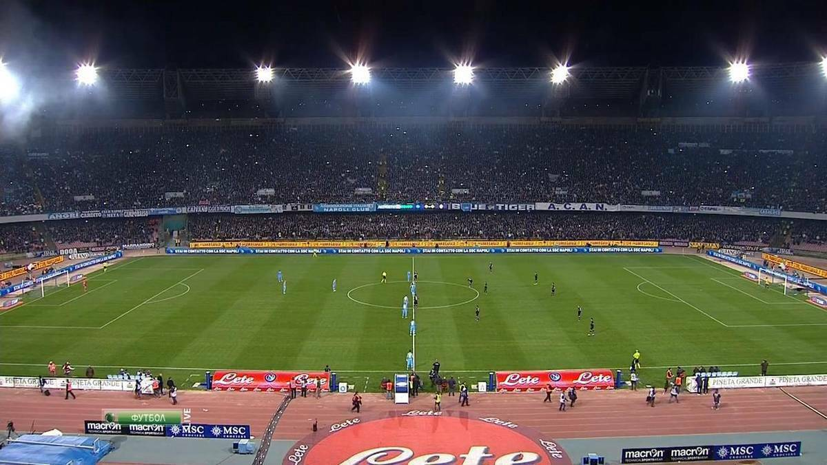 Napoli-Juventus curva ospite