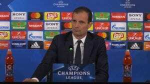 Allegri conferenza stampa Atletico Madrid Juventus