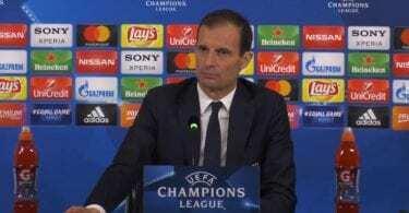 Allegri conferenza stampa Atletico Madrid Juventus