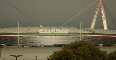 scritte Agnelli Allianz Stadium juventus Atletico Madrid